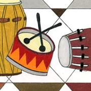 Musical drawing for the drummer
